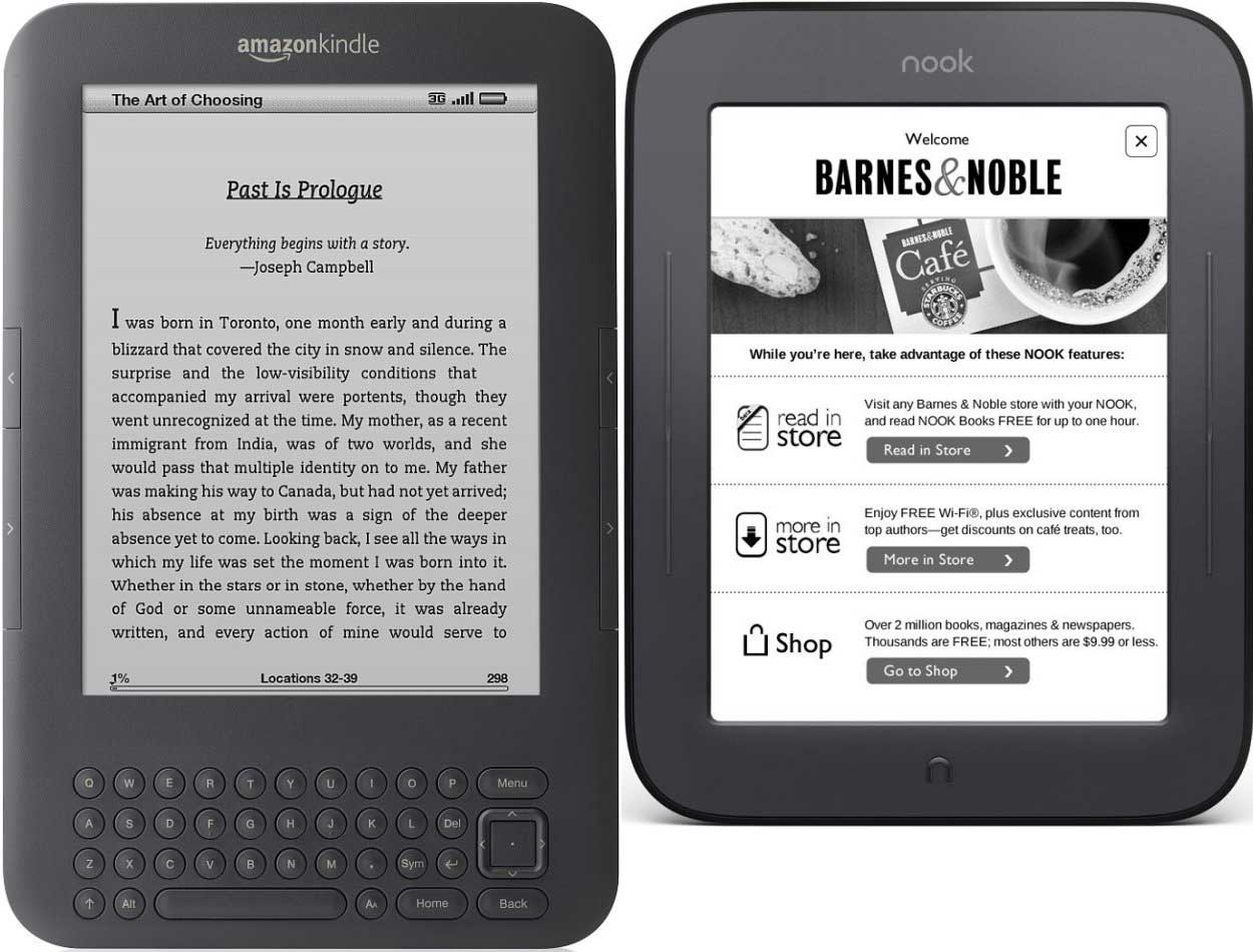 Kindle 3G Vs Nook – is The King dead? | Reviews eBook Readers
