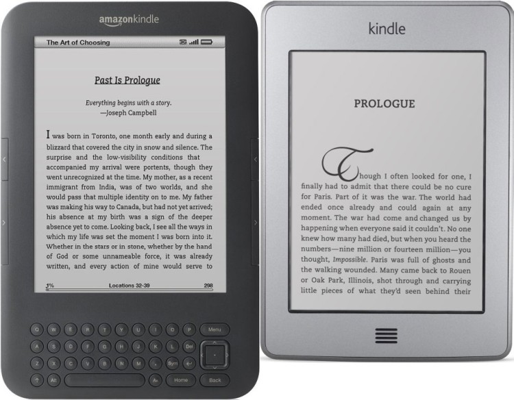 kindle vs kindle touch face to face in dimensions battle