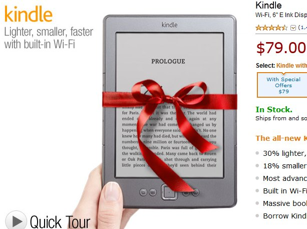 kindle cyber monday 2011