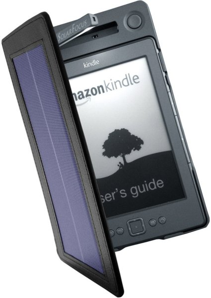 Solar lighted cover for Kindle 4