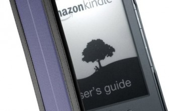 Solar cover for Kindle 4